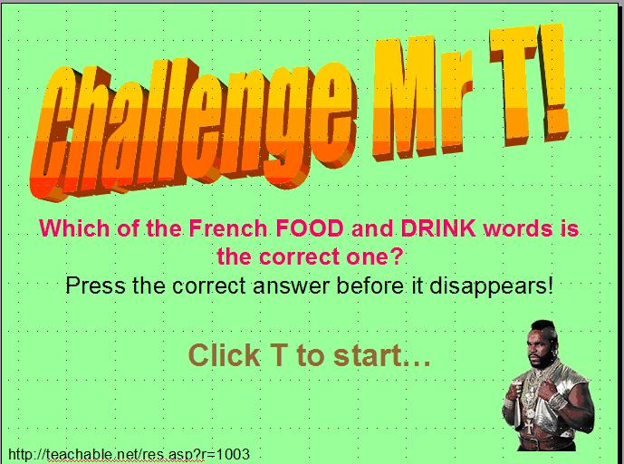 Challenge mr t food drink