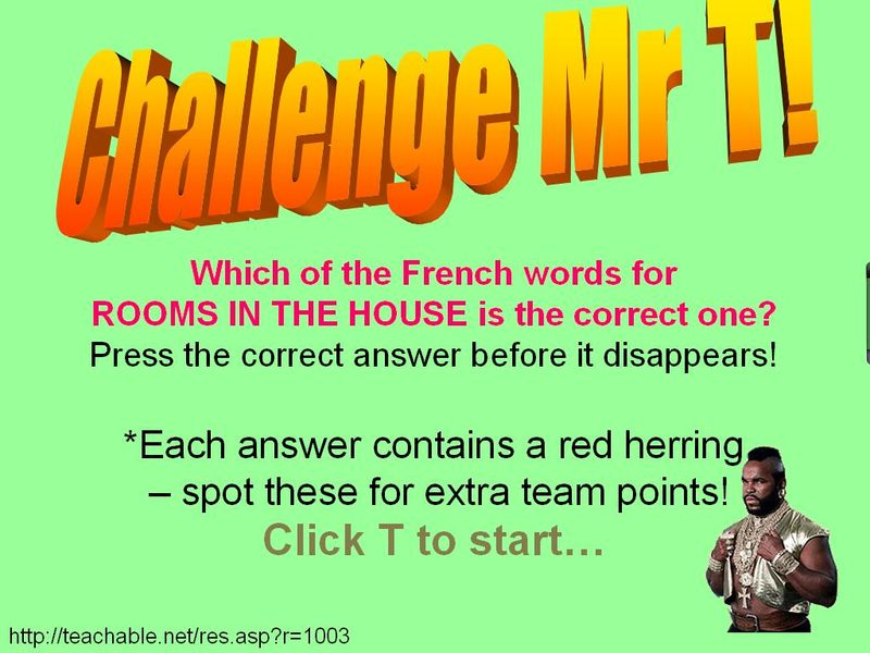 Challenge mr t rooms